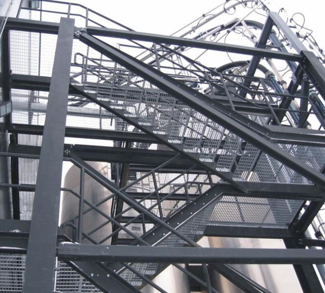 Лестницы из решетчатого настила