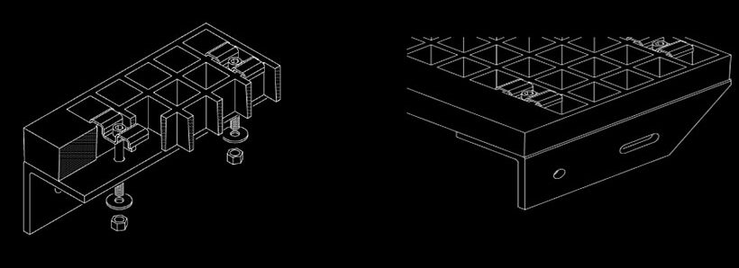 Решетчатые настил из стеклопластика GFK | ГФК
