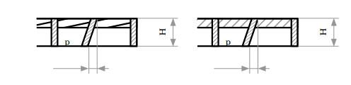 Отклонение несущих полос от вертикали