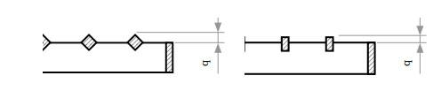 Максимальное выступание связующих прутков над несущими полосами