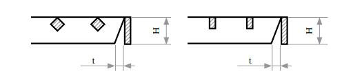 Косой срез несущих полос относительно связующих прутков