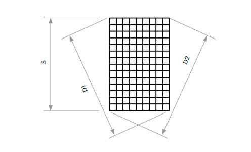 Максимальная разность между диагоналями